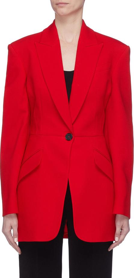 Alexander McQueen Peaked lapel sculpted wool blend blazer