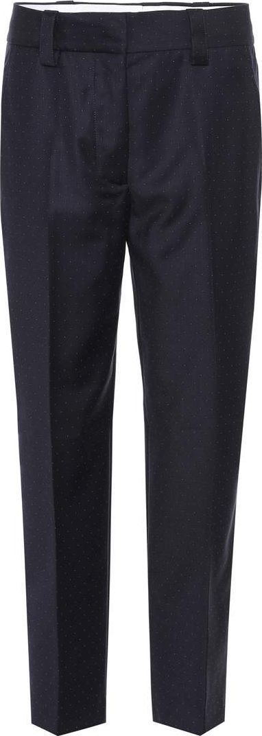 Acne Studios Trea Dot wool cropped trousers