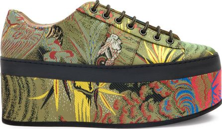 Gucci Tiger jacquard platform shoes