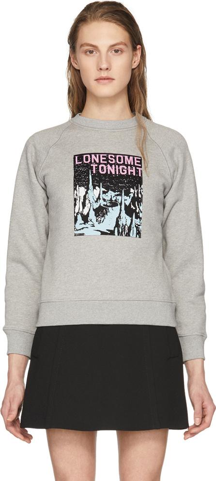 Alexachung Grey 'Lonesome Tonight' Sweatshirt