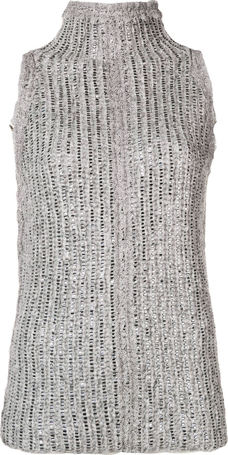 Ermanno Scervino Embellished turtleneck tank