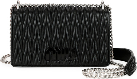 Miu Miu Medium Monochrome Matelasse Leather Shoulder Bag