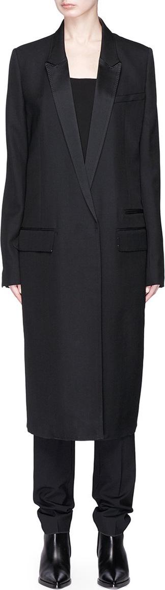 Haider Ackermann 'Classic' ruched back long wool blazer