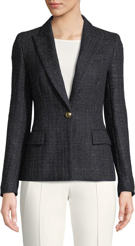 Escada One-Button Metallic-Tweed Blazer