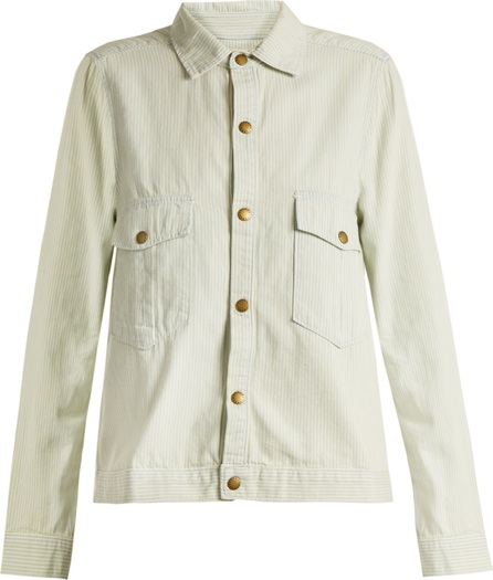 THE GREAT. The Shirt striped cotton jacket