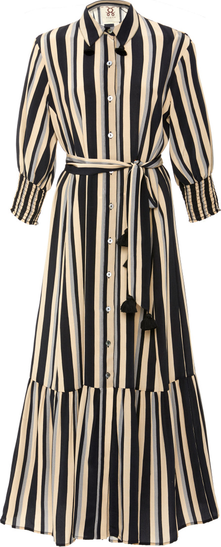 FIGUE Indiana belted silk dress
