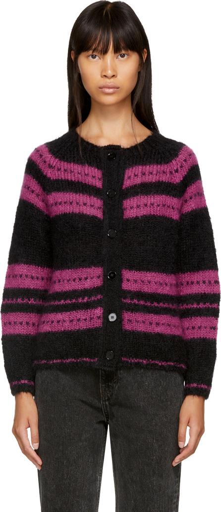 Alexachung Black & Pink Stripe Cardigan