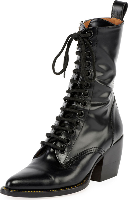 Chloe Rylee 90MM High Lace Up Buckle Boot