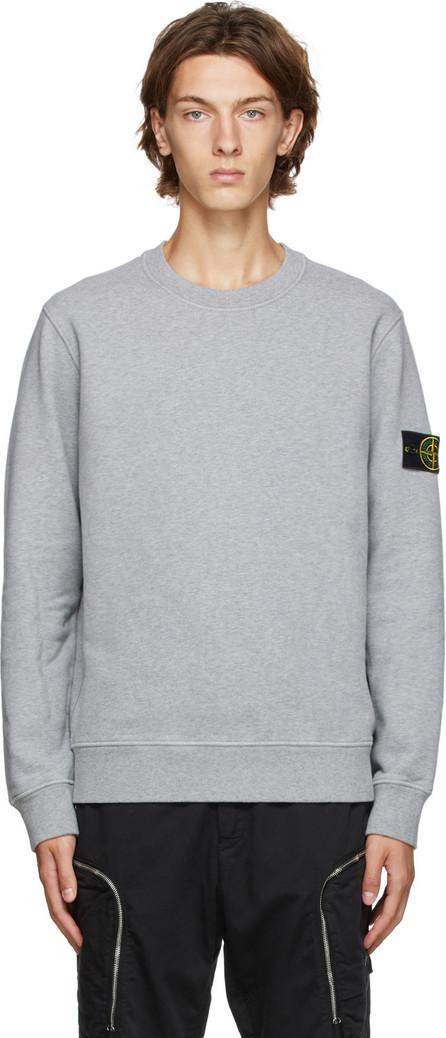 Stone Island Burgundy Cotton Sweatshirt