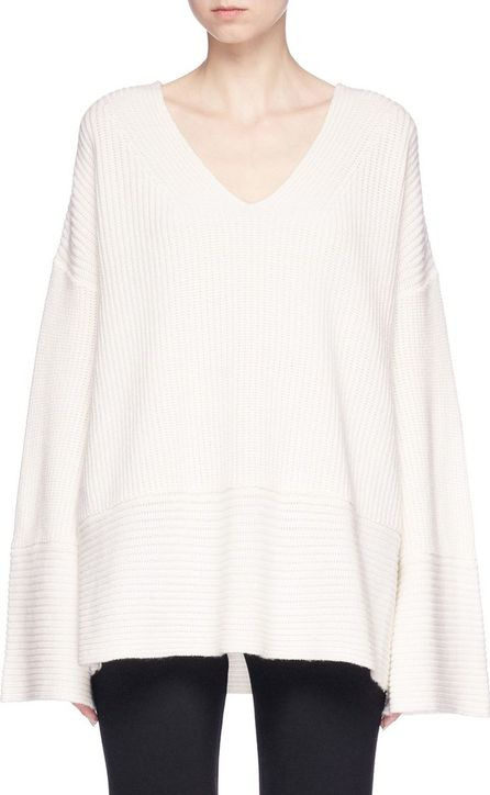 Zimmermann 'Maples' oversized wool-cashmere rib knit sweater