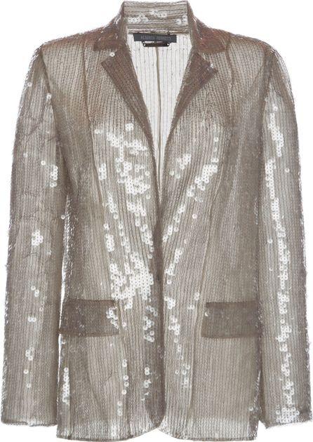 Alberta Ferretti Sequin Long Sleeve Blazer