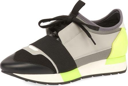 Balenciaga Colorblock Race Stretch-Sock Sneakers