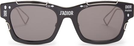 Dior J'adior logo-printed acetate sunglasses