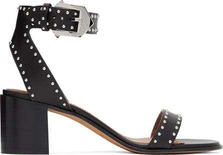 Givenchy Black Studded Elegant Sandals