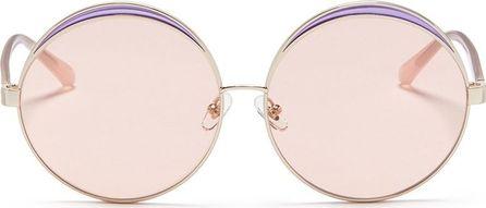 Nº21 Colourblock metal oversized round mirror sunglasses