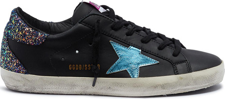 Golden Goose Deluxe Brand 'Superstar' glitter counter leather sneakers