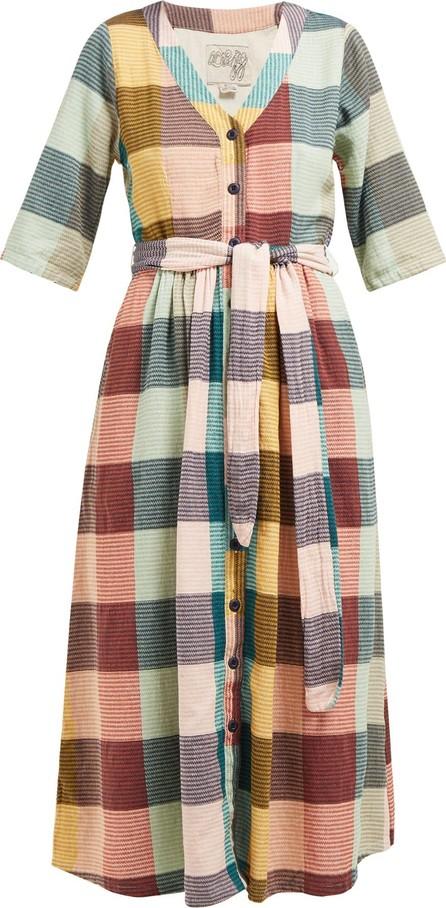 ace&jig Leelee checked cotton midi dress