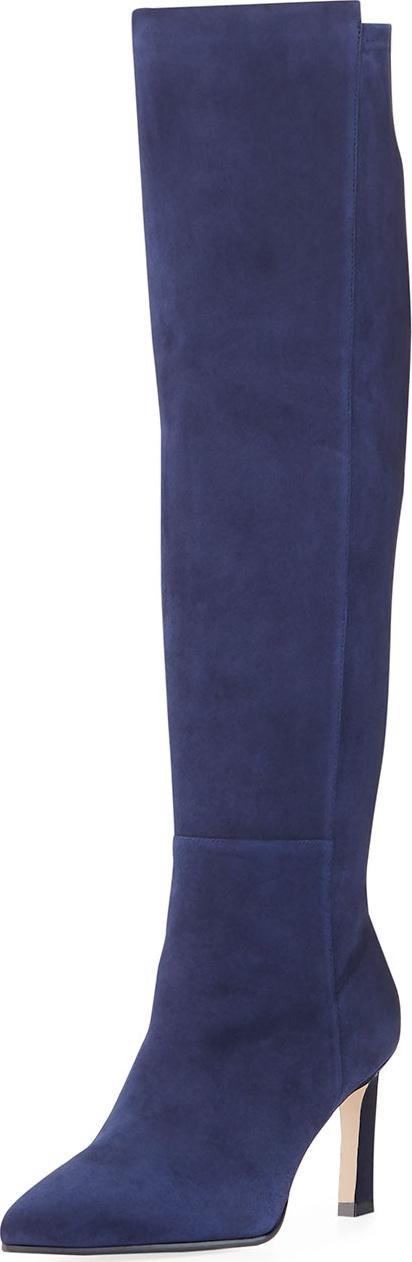 Stuart Weitzman Demi 75mm Suede Knee Boots
