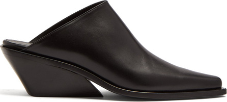 Ann Demeulemeester Square-toe leather mules