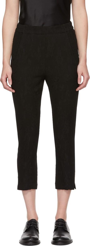 Ann Demeulemeester Black Pull On Trousers