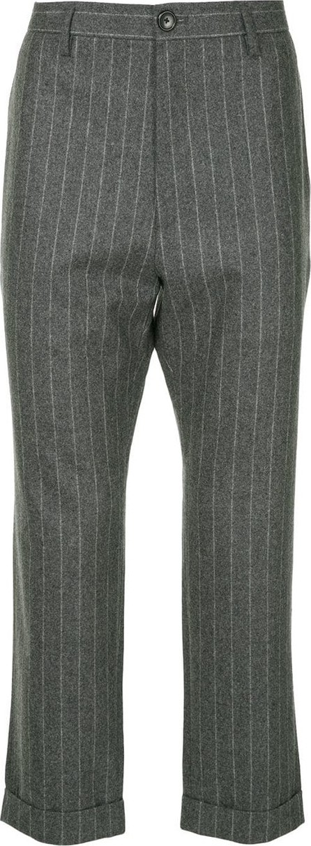H Beauty&Youth Pinstriped cropped trousers