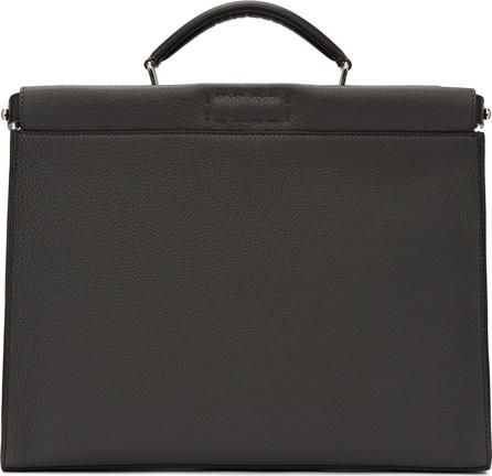 Fendi Grey 'Forever Fendi' Peekaboo Briefcase