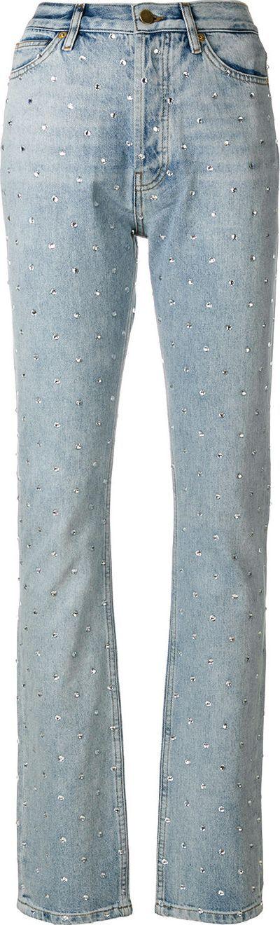 Alexandre Vauthier embellished straight leg jeans