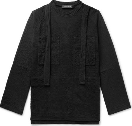 Craig Green Oversized Strap-Detailed Textured Cotton-Jersey Sweatshirt