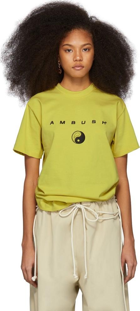 Ambush SSENSE Exclusive Yellow Logo T-Shirt