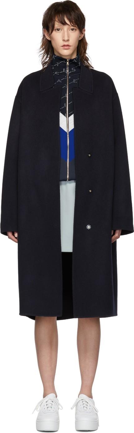 Stella McCartney Navy Wool Coat