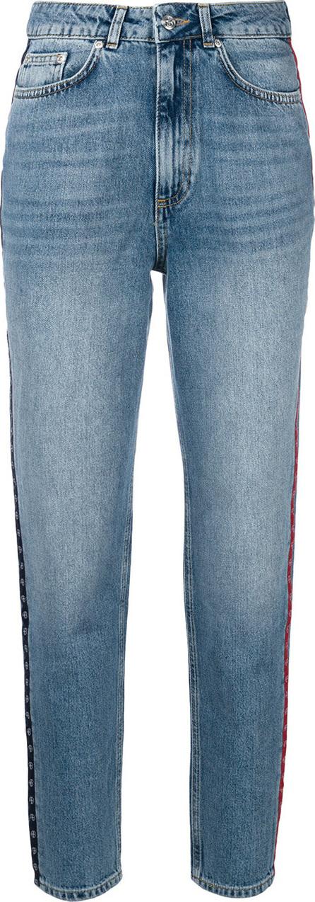 ANINE BING Side stripe high waisted jeans