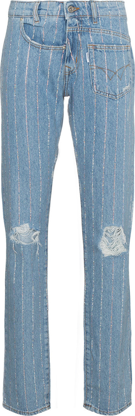 Filles A Papa Crystal studded boyfriend jeans