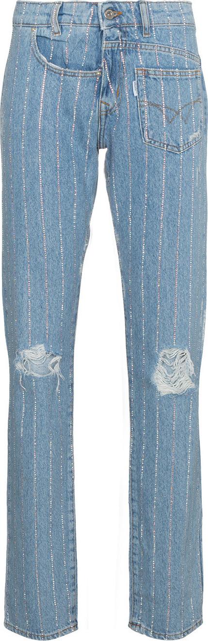 Filles A Papa Crystal studded boyfriend jeans