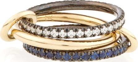 Spinelli Kilcollin Celeste diamond, sapphire & gold ring