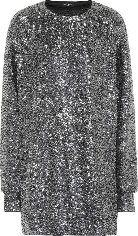 Balmain Sequinned metallic dress
