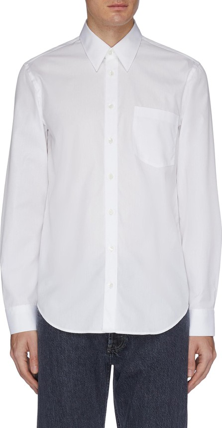 Helmut Lang Slogan print appliqué shirt