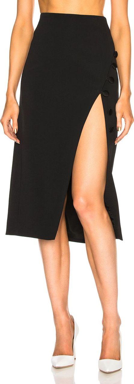 David Koma Button Detail Side Slit Pencil Skirt