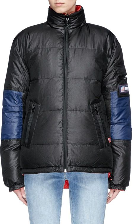 Opening Ceremony Colourblock reversible down puffer jacket