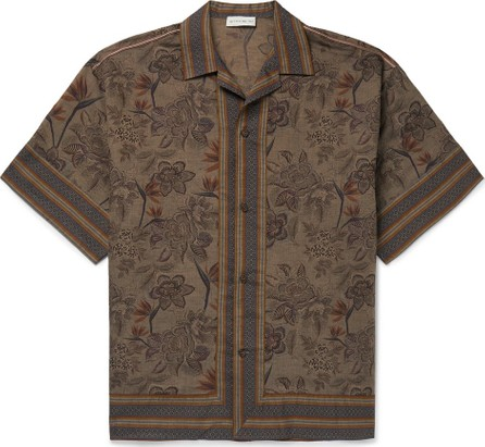 Etro Camp-Collar Printed Linen and Cotton-Blend Shirt