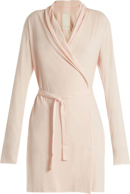 SKIN Pima-cotton jersey robe