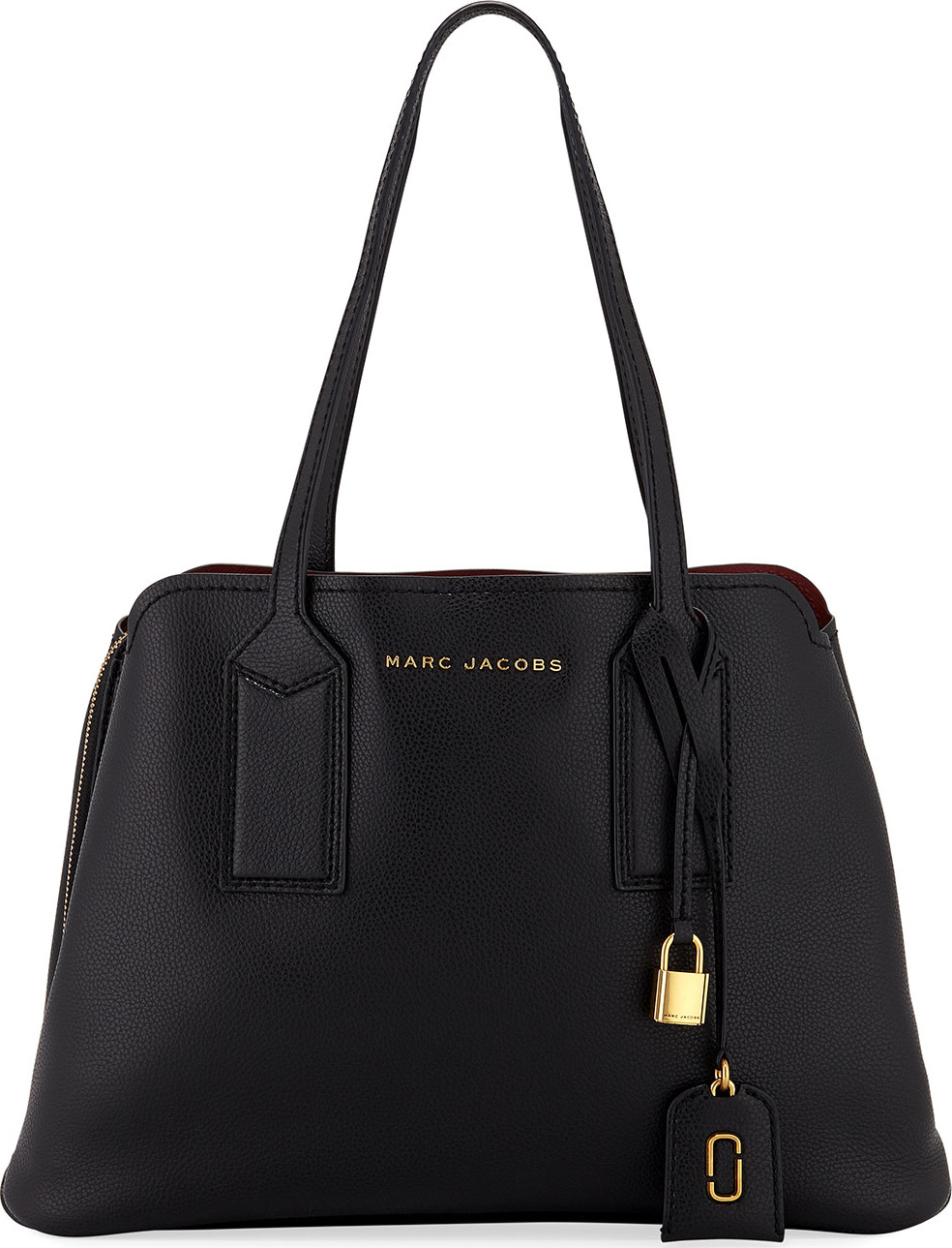 MARC JACOBS - The Editor Large Pebbled Leather Tote Bag