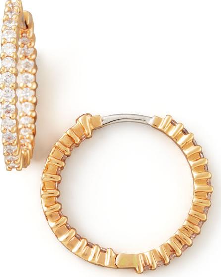 Roberto Coin 22mm Rose Gold Diamond Hoop Earrings, 1ct