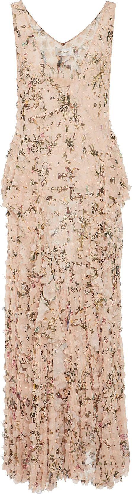 Zimmermann Maples Whisper Silk-Blend Slip Dress