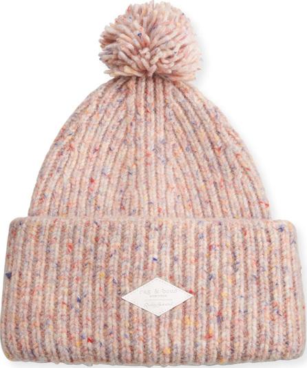 Rag & Bone Devin Boucle-Knit Beanie w/ Pompom