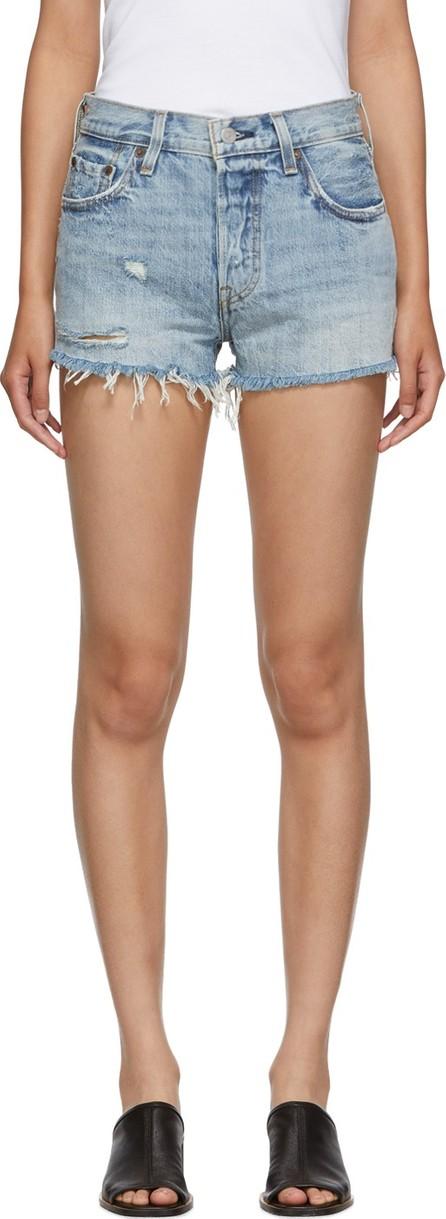 LEVI'S Blue Denim 501 Mid-Rise Shorts