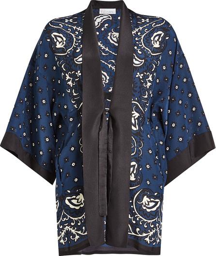 RED Valentino Paisley Print Silk Kimono
