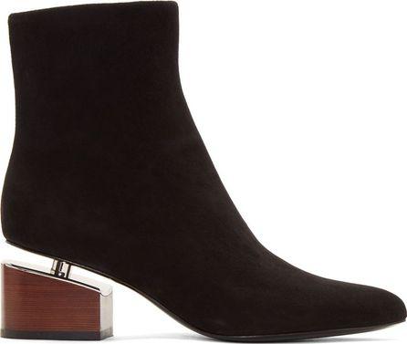Alexander Wang Black Suede Jude Boots