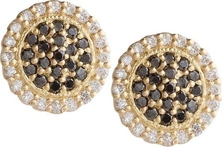 Jamie Wolf Scalloped Black & White Diamond Stud Earrings