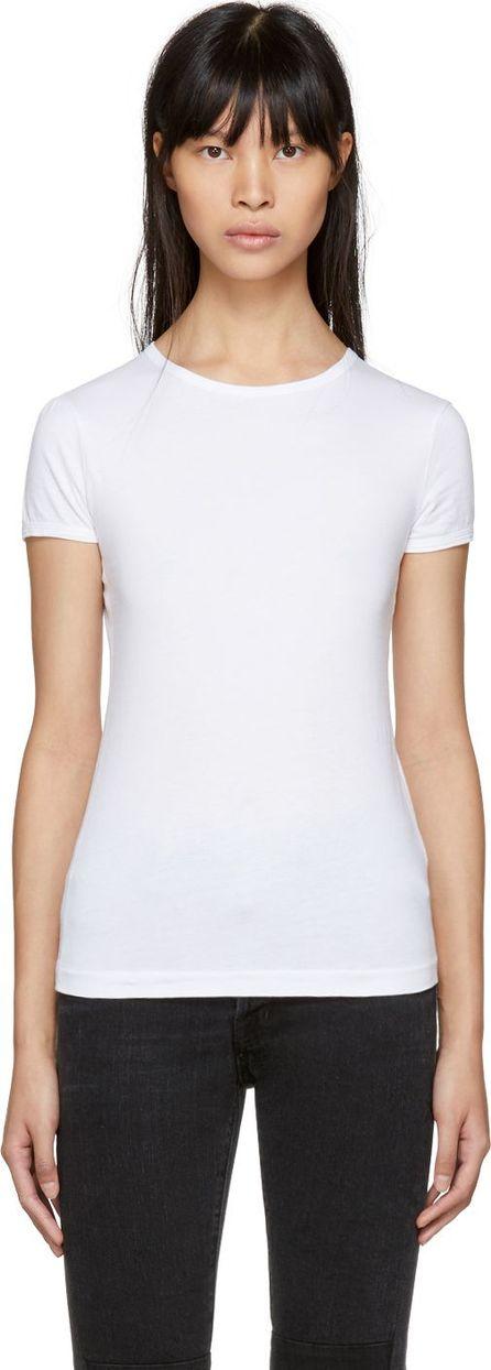 Helmut Lang White Logo Baby Fit T-Shirt