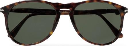 Persol Aviator-Style Tortoiseshell Acetate Polarised Sunglasses